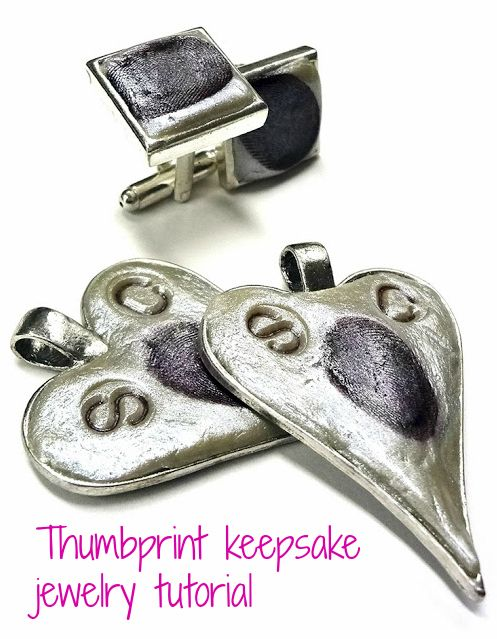 Resin Obsession blog:  How to use epoxy clay to make a keepsake thumbprint pendant
