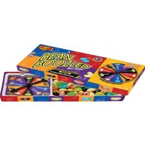 A bulk box of Jelly Belly Bean Boozled Spinning Games.