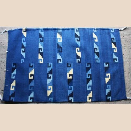 Ocean Wave Blue Wool Rug