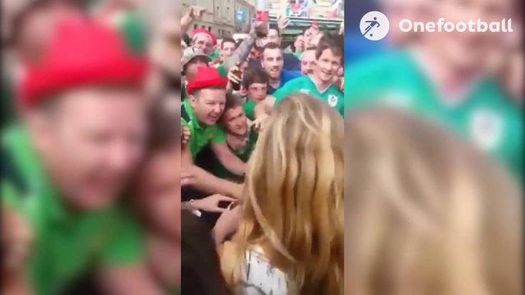 UEFA EURO 2016: Irish fans serenade French girl