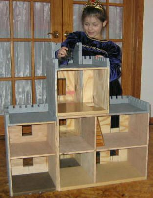 Do it yourself doll house instructions. good instructions for finishing the castle top of molly's doll house. didn't think about diado cuts instead of a jigsaw.
