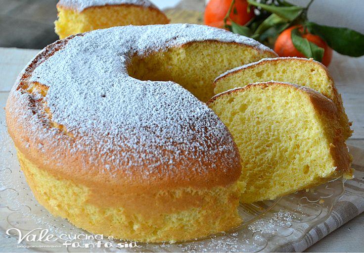 Chiffon cake al mandarino ricetta senza burro e olio