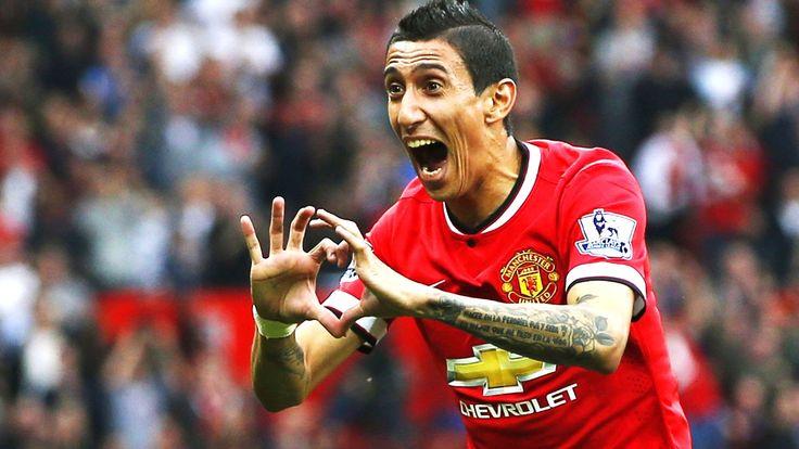 Angel Di Maria - Angel di Maria var storfornøyd etter sin første scoring på Old Trafford. - Foto: ANDREW YATES / Reuters