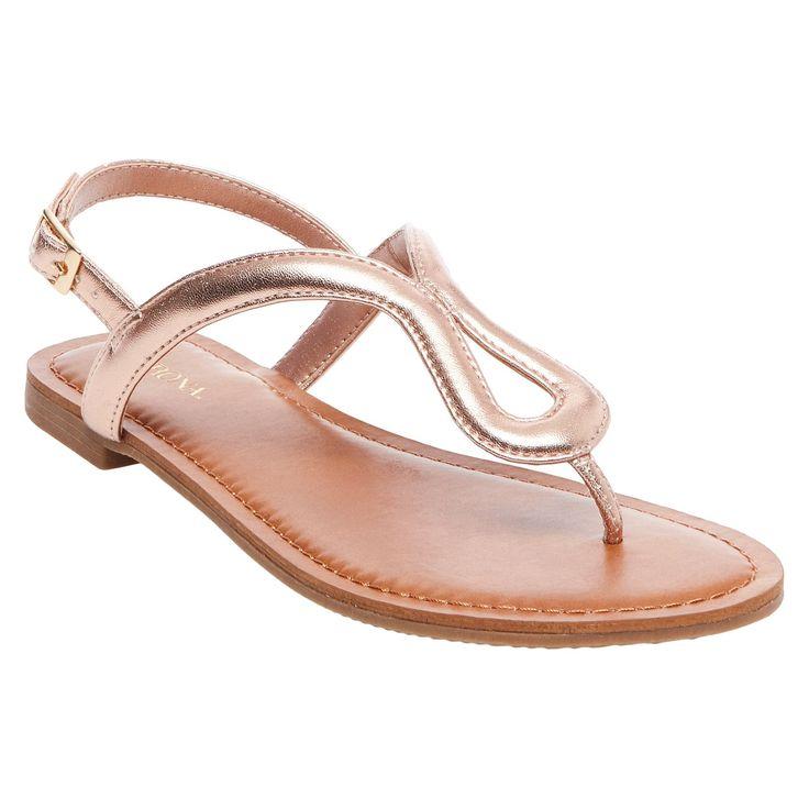 Women's Davinia Thong Sandals - Merona Gold 7.5