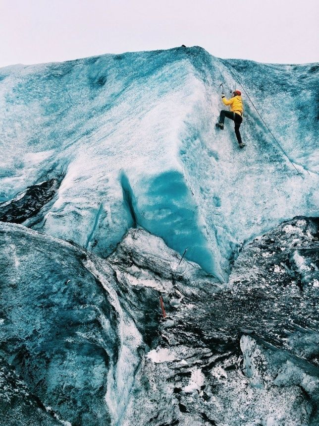 Ever think about going ice climbing in Iceland? Click here to find out more about glacier hiking, ice climbing, and tips for planning your Iceland glacier hiking and ice climbing trip.
