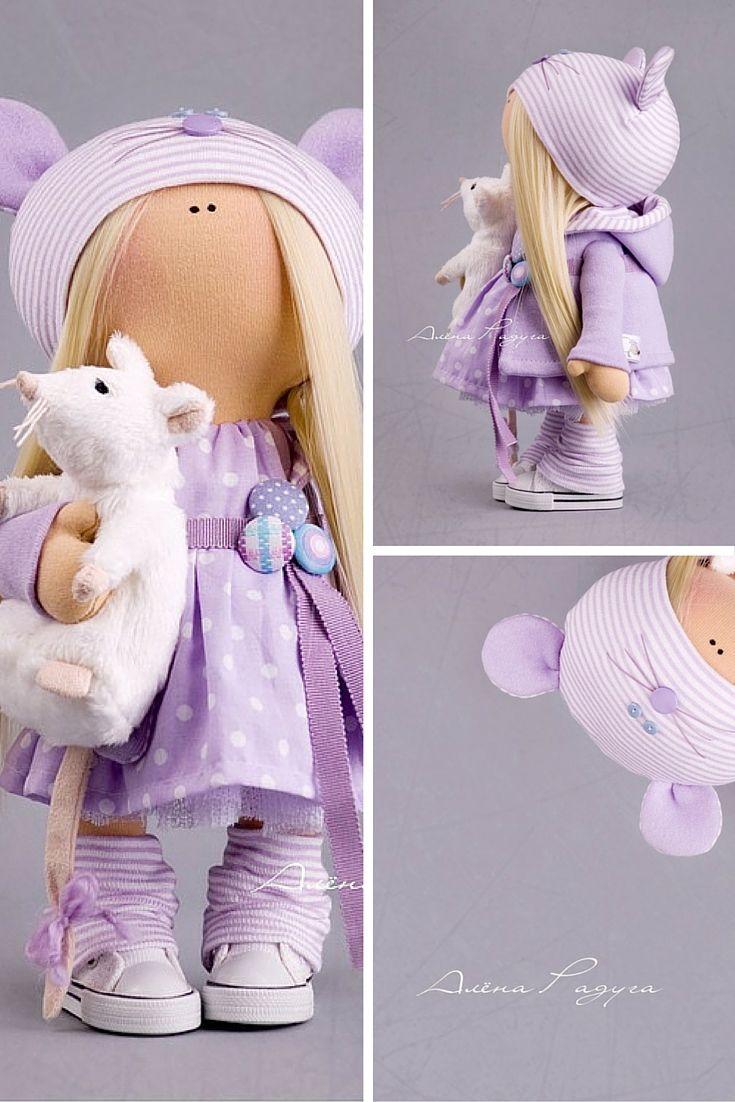Baby doll handmade, cloth doll, textile doll, soft doll, handmade doll, art doll, collection doll