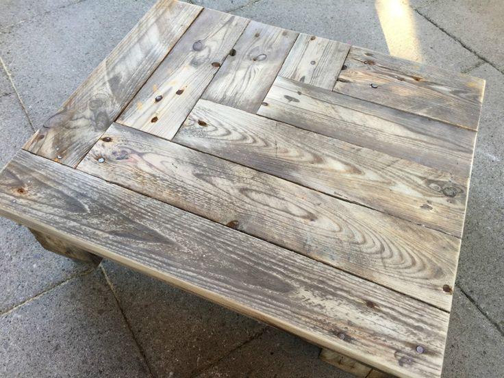 recyclingtisch tisch mit rollen aus paletten haus pinterest rollen tisch und palletten. Black Bedroom Furniture Sets. Home Design Ideas