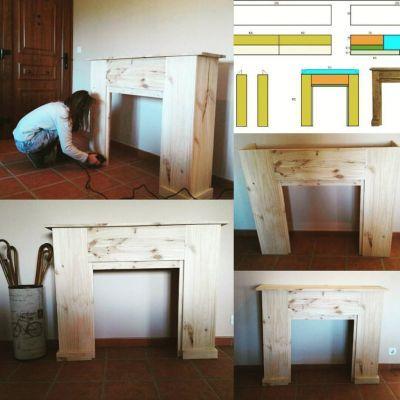 Chimenea decorativa diy en la comunidad de bricolaje - Hacer chimenea decorativa ...