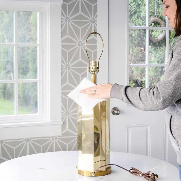 DIY Faux Marble Table Lamp Makeover with Contact P…