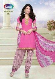Pink Color Elegant & Beautiful Cotton Fabric Unstitched Patiala Suit
