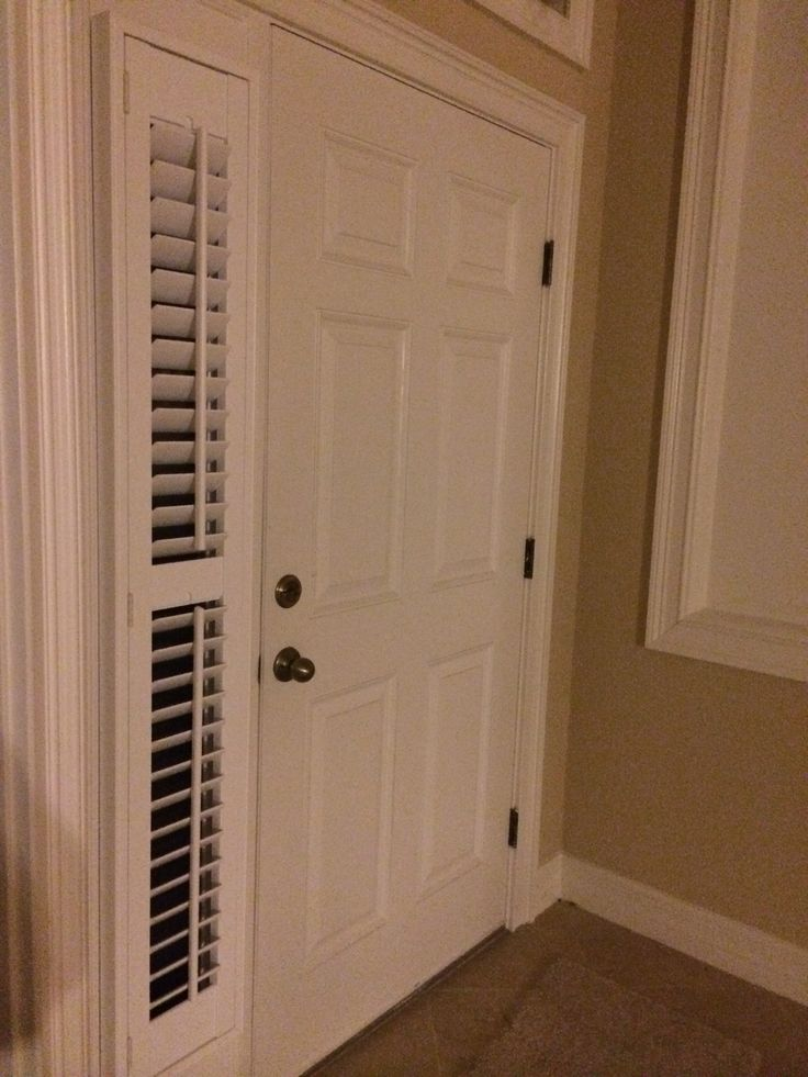 shutters are the perfect solution for sidelight windows budget blinds of clermont - Sidelight Blinds