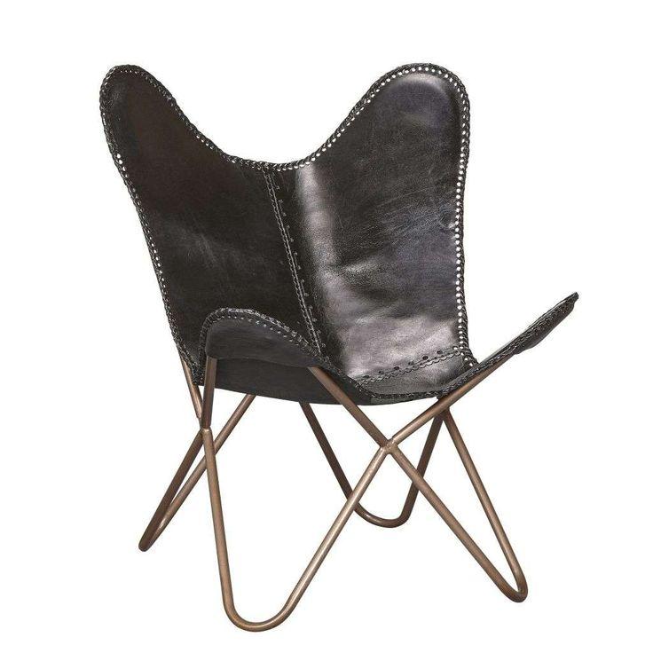 WOONEXPRESS   Woonstijl Industrieel vintage   fauteuil VLINDER