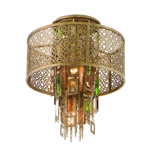 Corbett Lighting Riviera Bronze W/sil Semi-Flushmount Light | 123-31 | Destination Lighting