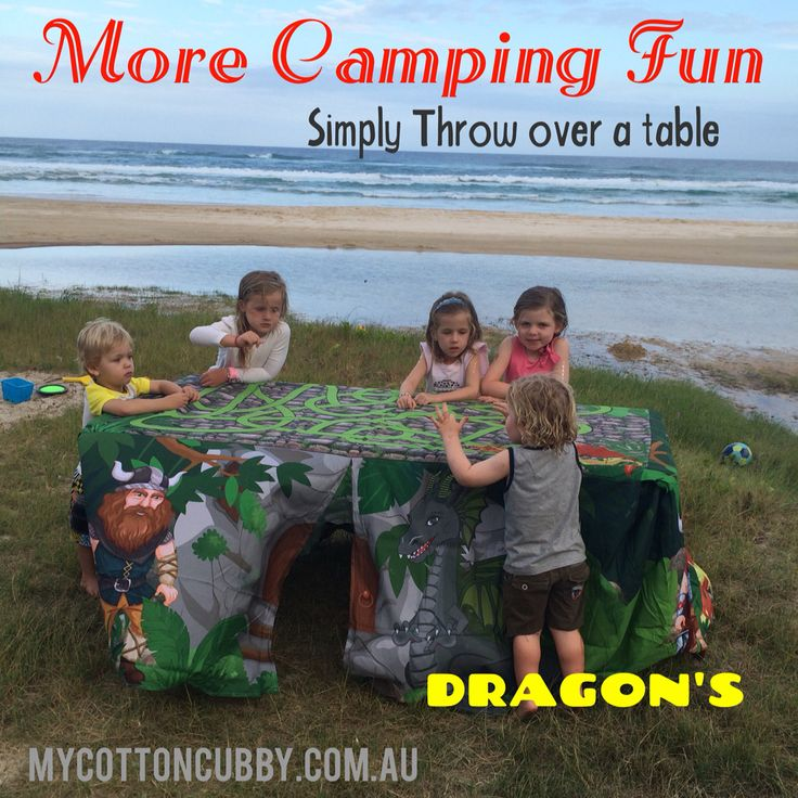 Camping fun with #mycottoncubby. Simply throw over a take and the fun begins. Packs away small. www.mycottoncubby.com.au