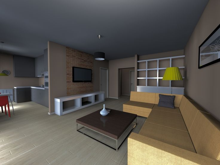 render of a renovated flat