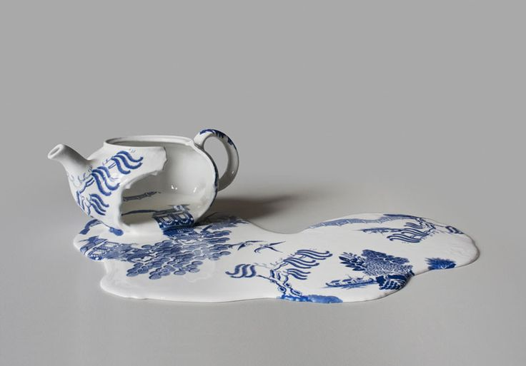 Melting ceramics  Strange Art Collection: Nomad Patterns by Livia Marin