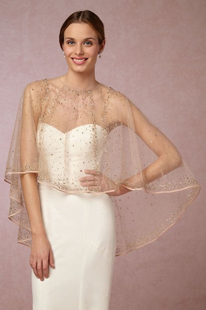 The 209 best bridal cover ups images on pinterest boyfriends sonora capelet in shoes accessories cover ups at bhldn junglespirit Images