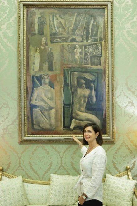 """Boldrini, una foto col Sironi: """"Mai pensato di voler cancellare l'arte di epoca fascista"""""""