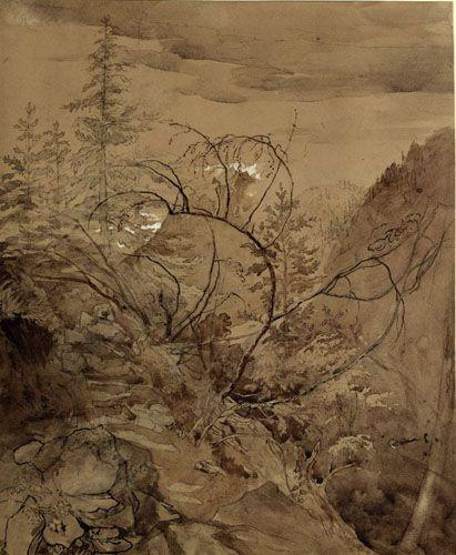John Ruskin I Trees and Rocks I ca. 1845