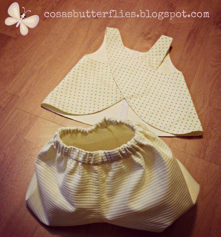 Cosas de Butterflies: DIY Tutorial coser puntilla blusa niña de Cosotela...