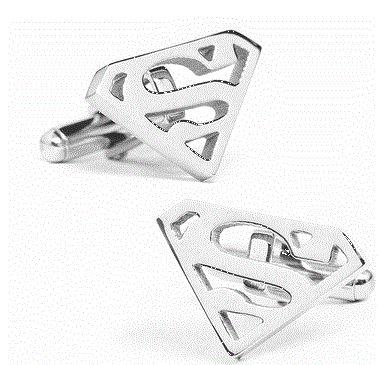 Stainless Steel Superman Cufflinks by Cufflinksman.com