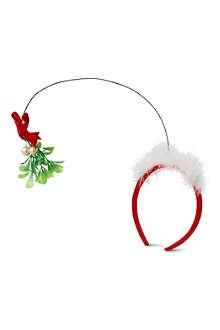CHRISTMAS Kiss Me mistletoe headband .....AMAZING!!!!!