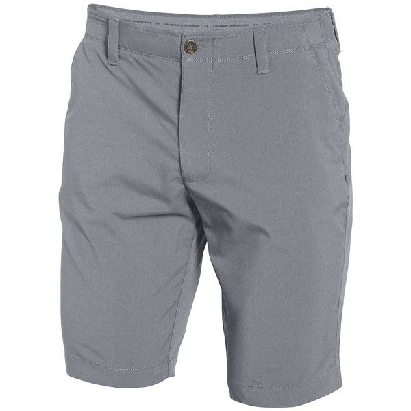 Under Armour Match Play Golf Shorts (7115 DZD) ❤ liked on Polyvore featuring men's fashion, men's clothing, men's shorts, grey, mens grey shorts, mens golf shorts and under armour mens shorts