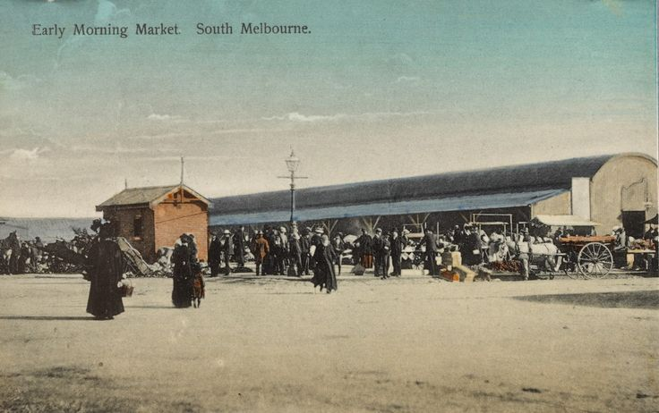 South Melbourne Market, c.1908. SLV collection