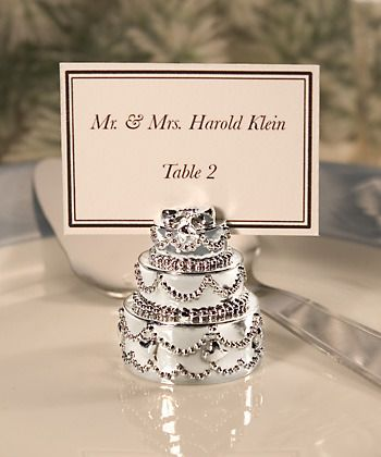 Silver Plated Wedding Cake Place Card Holder http://www.aussieweddingshop.com.au/Product/186/silver-plated-wedding-cake-place-card-holder