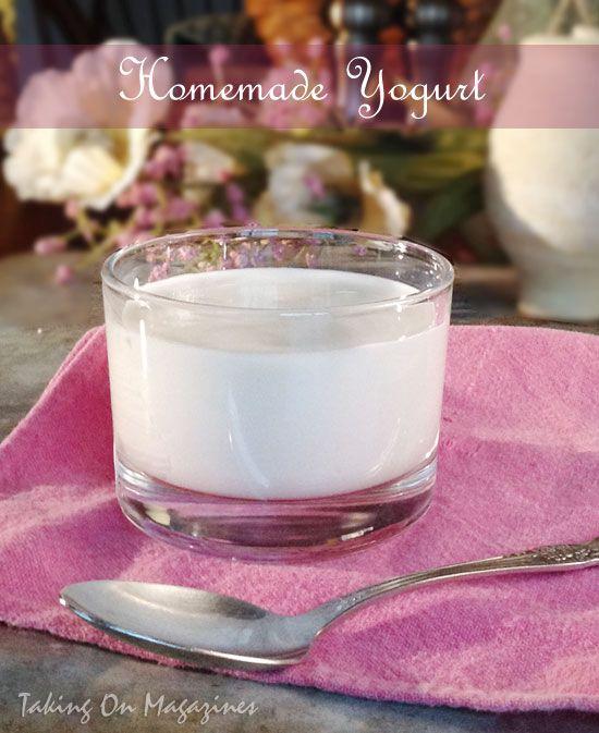 Homemade Yogurt | Taking On Magazines | www.takingonmagazines.com
