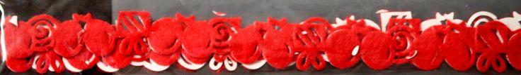Queen & Company Mini Felt Fusion Red Balloons Self-Adhesive Felt Embellishment