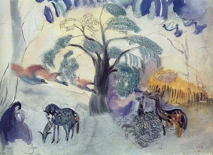 """Martiros Saryan - """"Fairy tale. Garden of Eden."""" 1904"""