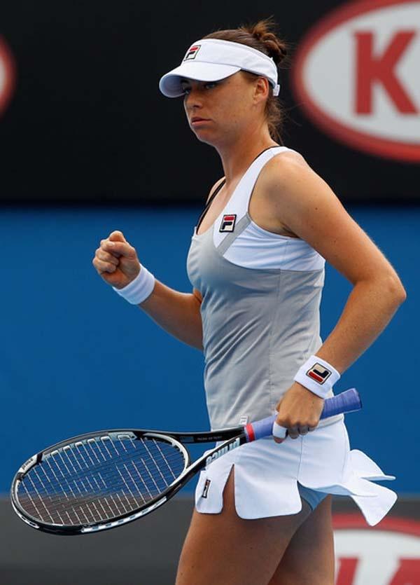 Vera Zvonareva in Grand Slam Australian Open Tennis Tournament
