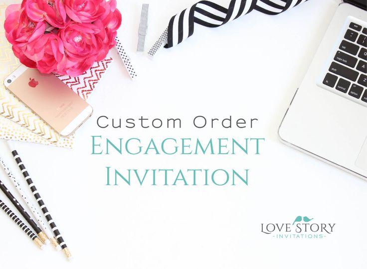 Custom Design ~ Engagement Invites ~ Invitation Design ~ Custom Engagement ~ Unique Invitation ~ Invitation Suite ~ Custom Invitations