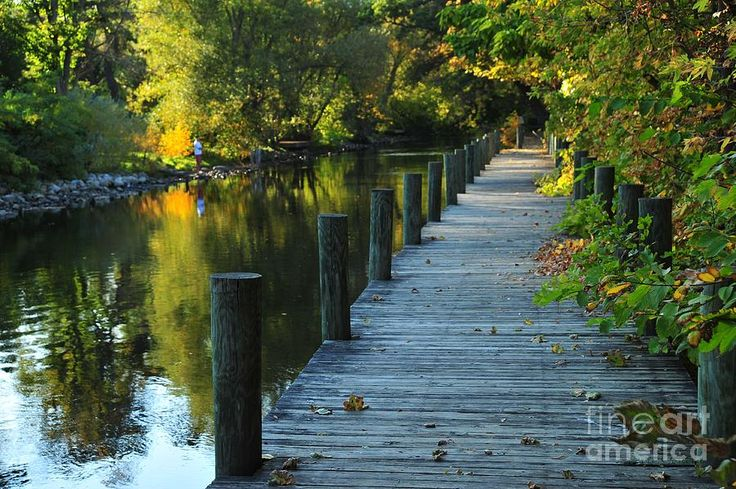 River Walk In Traverse City Michigan Photograph by Terri Gostola