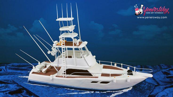 3D Fishing Boat Cake - Cake by Yeners Way - Cake Art Tutorials