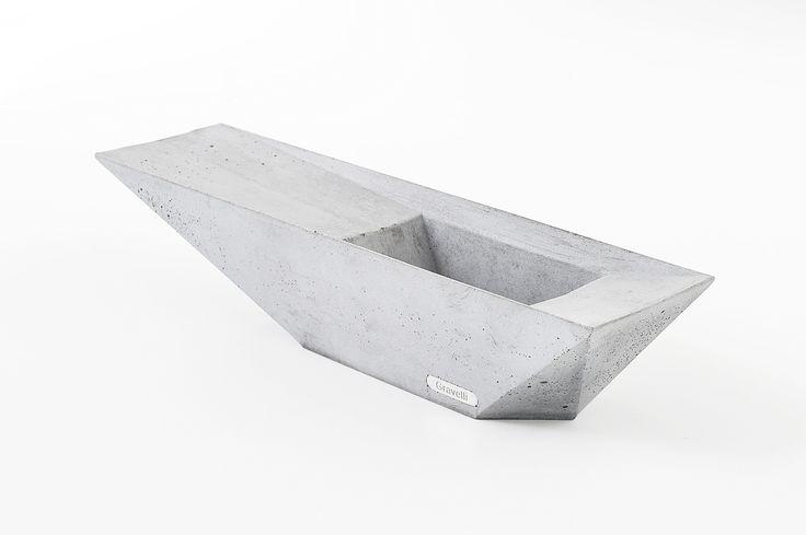 Concrete stylish ashtray by Gravelli in grey variant.