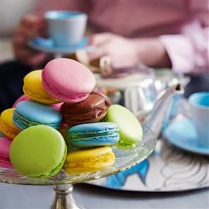 Follow this colourful macaroon recipe to give as a gift or a