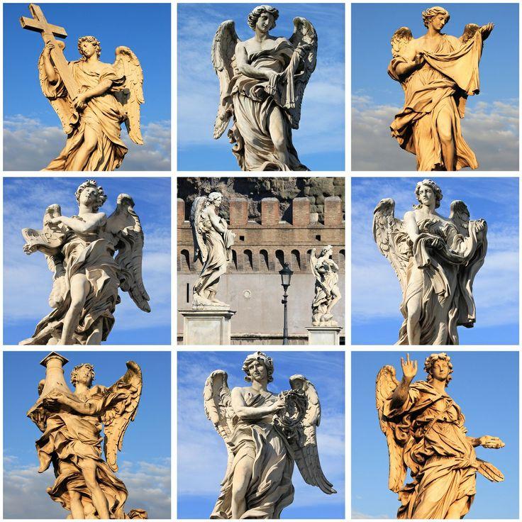 Roma'da bulunan melek heykelleri şehrin sanat kokmasını sağlıyor.