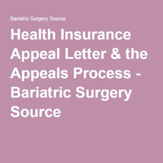 health insurance appeal letter the appeals process bariatric surgery source