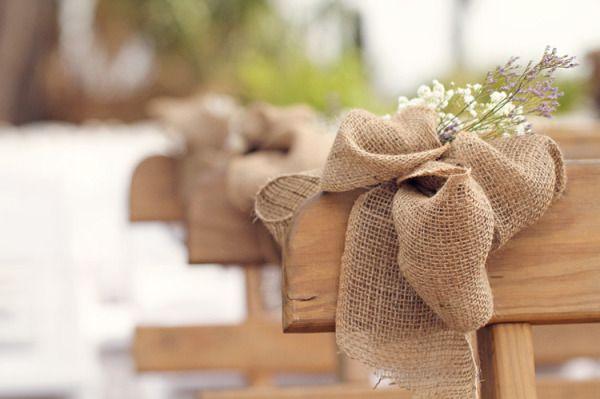 Les moineaux de la mariée: J'♥ la toile de jute !