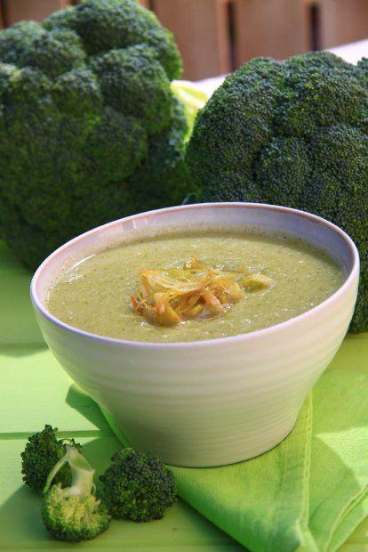 Krem z brokułów z porem i tymiankiem