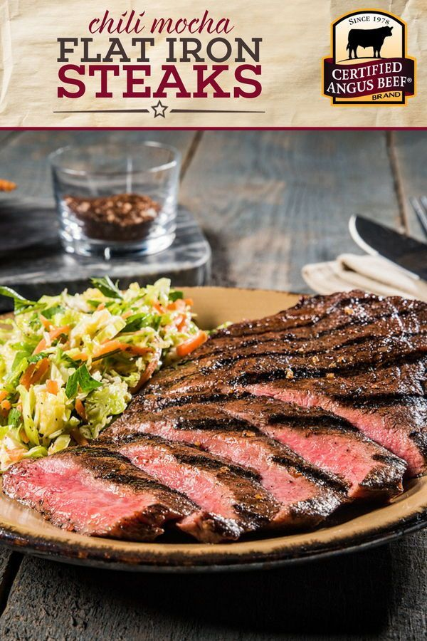 Fire Up Your Grill For Chili Mocha Flat Iron Steaks This