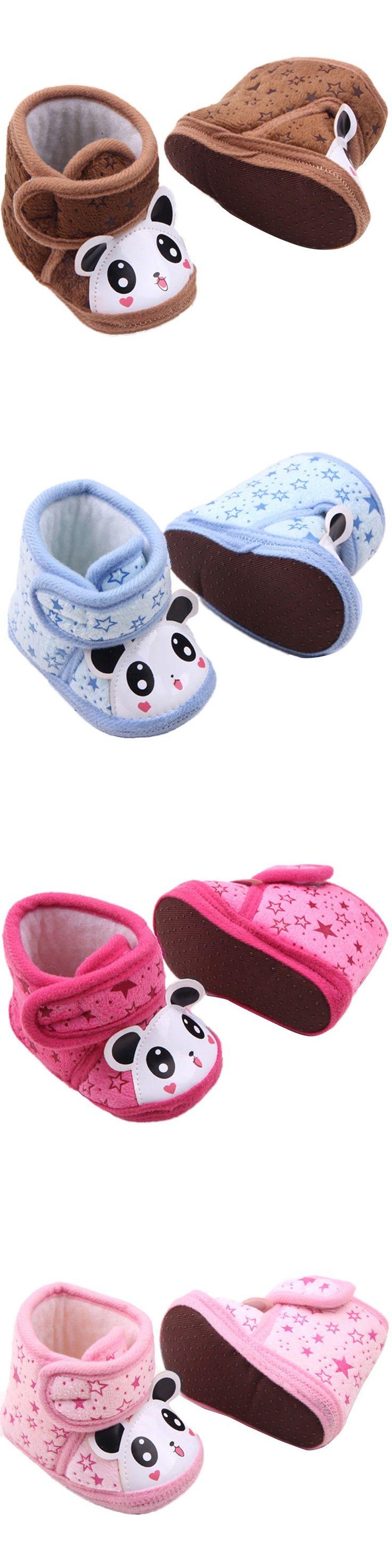 Newborn Baby Boots Boy Girl Warm Anti-slip Panda Soft Sole Slipper Shoes 0-12 M $2.36