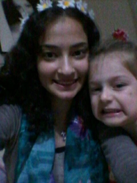 With my angel