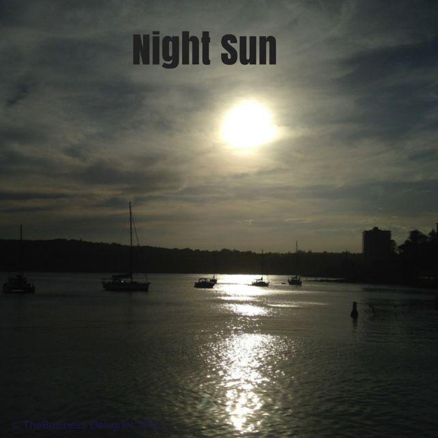 Day 92 #101daysofcreativeinspiration night sun