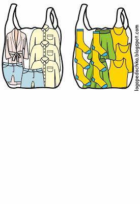 Zoek de juiste kaartjes bij de kleding tas 3