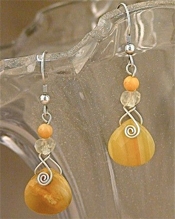 Bostwana Agate Sterling Silver Earrings (Customer Design) - Lima Beads
