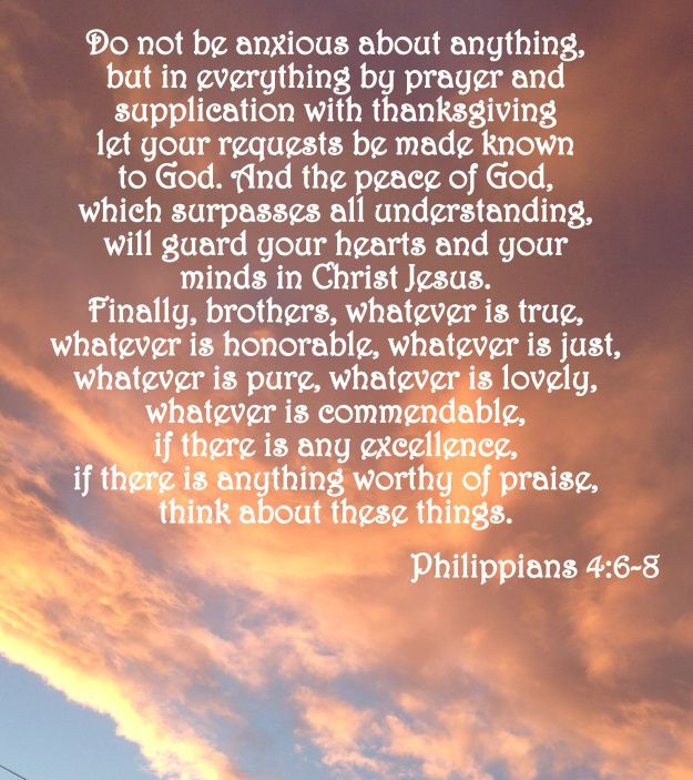 Verse of the Day – Phillipians 4:6-8