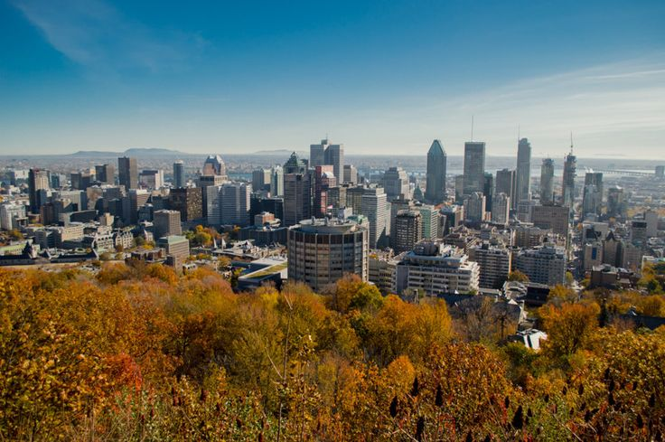 View of Montreal from the Mont Royal look out in Fall | by Lorraine Goh
